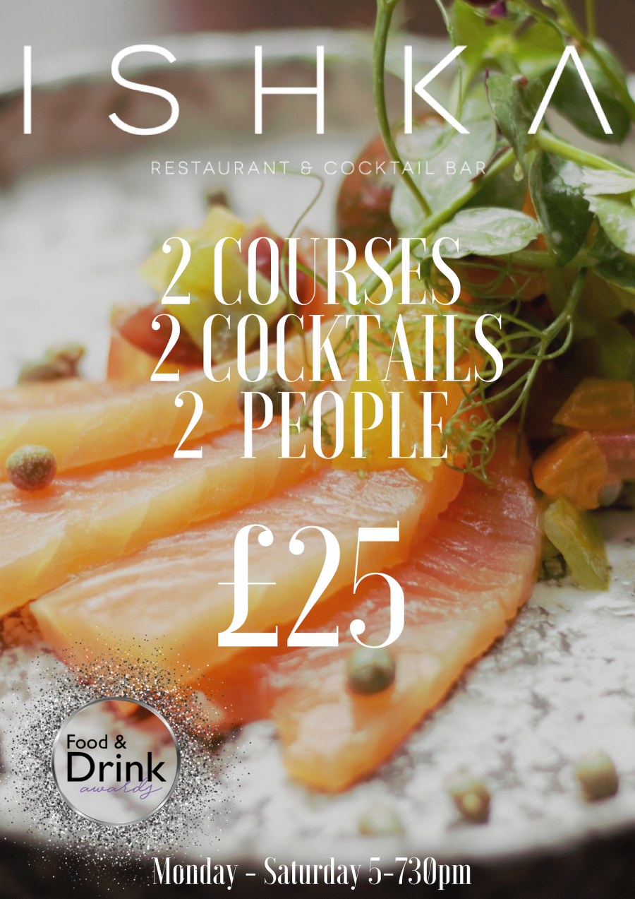 Two Mains | Two Drinks | Two Cocktails £25