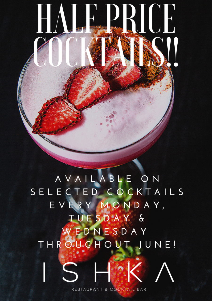 Half Price Cocktails In June!