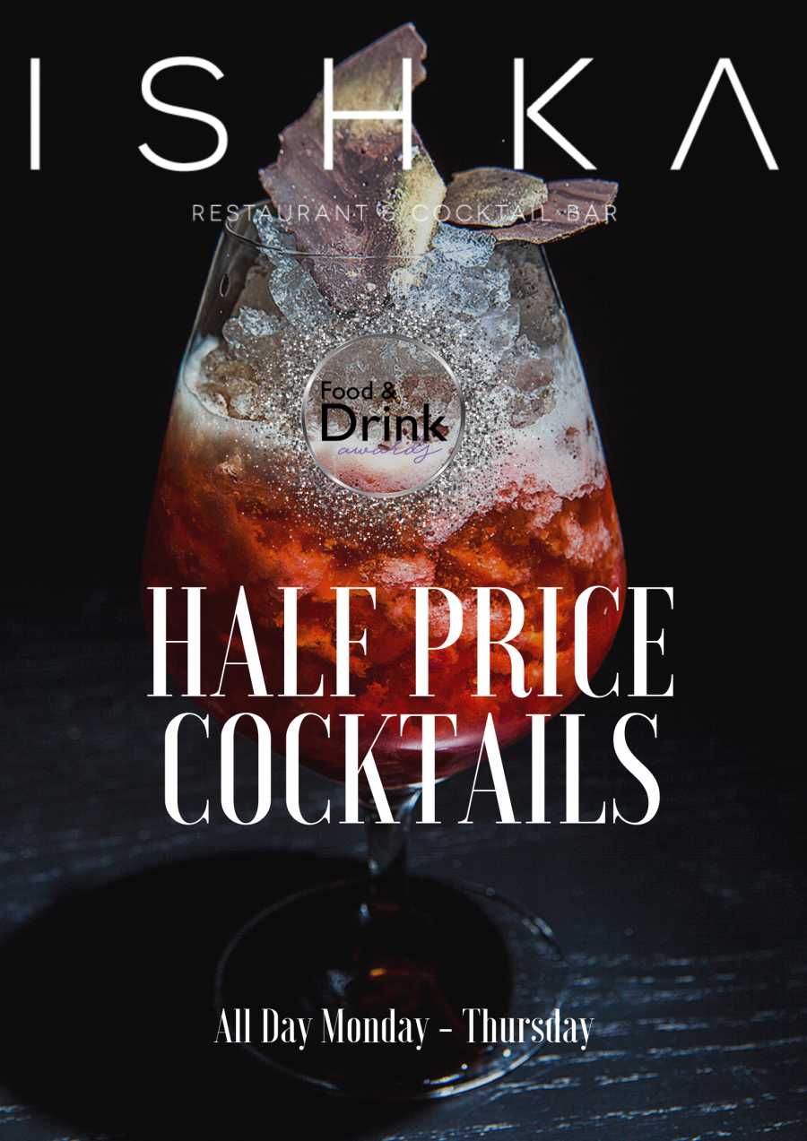 Half Price Cocktails! All Day, Monday – Thursday!