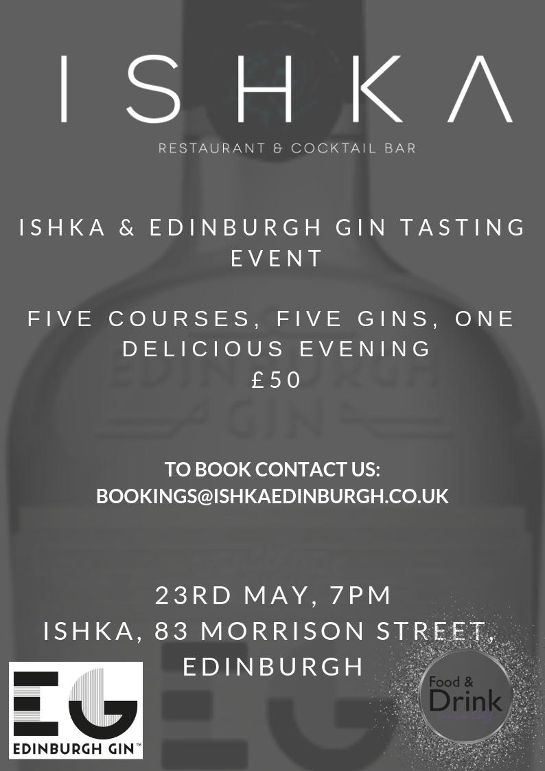 Edinburgh Gin Tasting Dinner
